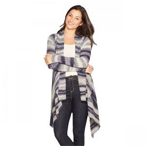 Knox Rose Striped Long Sleeve Open Front Cardigan